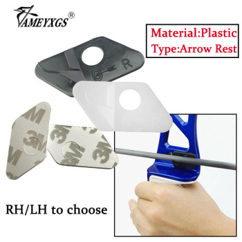 12/24set Archery Arrow Rest Recurve Bow Shooting Plastic Adhesive Arrow Rest Right/Left Hand Bow And Arrow Hunting Accessories 1pcs 4colors archery compound bow arrow rest recurve bow arrow rest for bow outdoor hunting shooting accessories