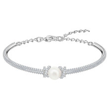 MINA BEAR 2019 New Originally Collection Delicate Elegant Silver Shiny Bracelet Bangle 5461083 Girlfriend Mother Gift Featured(China)