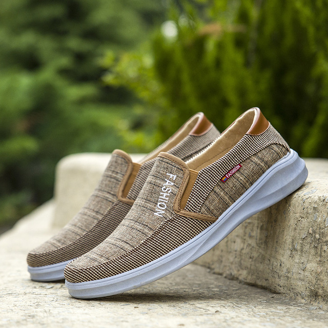 BJYL New canvas fashion sneakers men's casual belt light shoes comfortable breathable walking shoes Zapatillas Hombre M1317