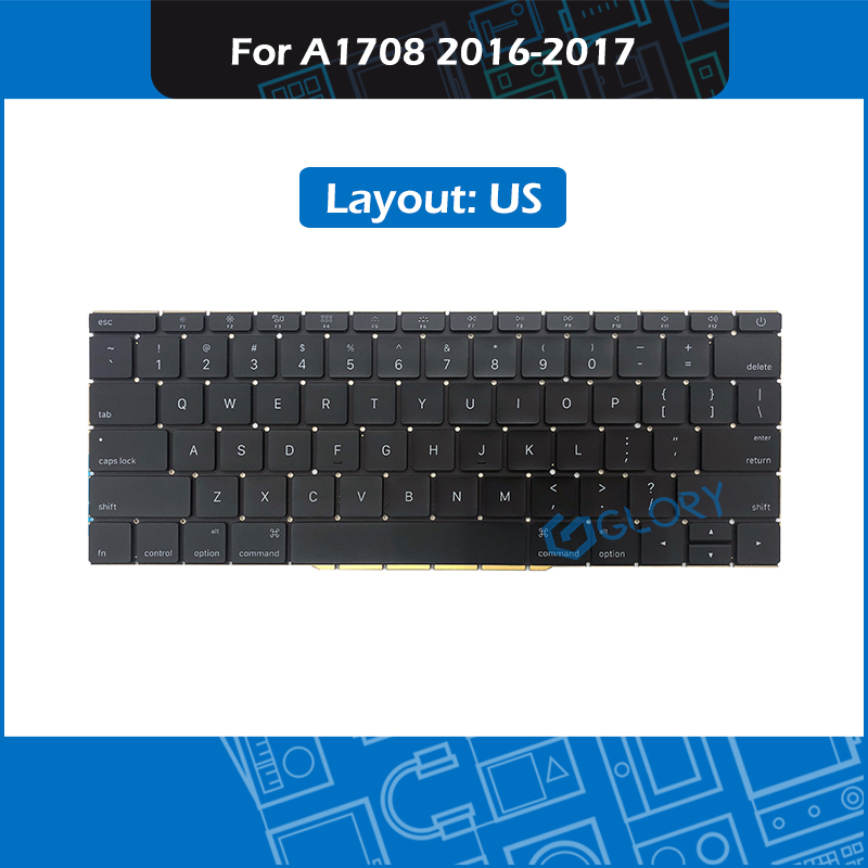 Laptop A1708 Keyboard US Standard For Macbook Pro Retina 13 A1708 Keyboard Replacement 2016 2017 image