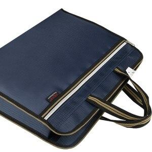 Image 3 - A4 קובץ תיקיית מקרה נייד תיק נייד אוקספורד בד גדול קיבולת משרד עסקי כנס מסמך תיק התאמה אישית