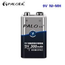 Bateria recarregável do sexo 9v ni-mh 300 mah para o rádio etc da câmera dos brinquedos das baterias 6f22 da bateria 9v de palo 9v
