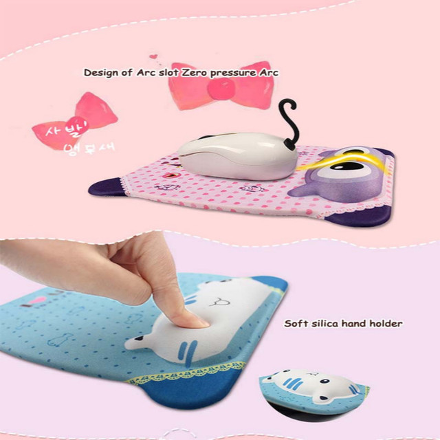 Cute Mouse Pad With Wrist Protect For Computer Laptop Notebook Keyboard Mouse Mat Comfort Silicone Mouse Pad Gaming Accessories 1