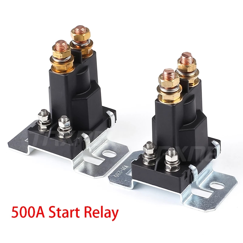 Pack of 5 Auto Relay 48V 40A SPST 4pin-Car Heavy Duty Switches /& Starters with Black Waterproof Sealed Case used for Auto Motor Automobile