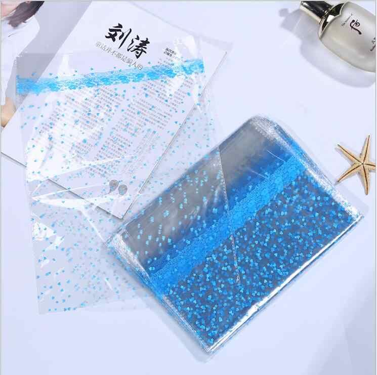 Bộ 50 18X25 Cm/20X30 Cm Trong Suốt Nhựa OPP Túi Cho Búp Bê Đồ Chơi Bao Bì Nhỏ trái Tim Tặng Đảng Kẹo Trái Cây Giỏ Túi