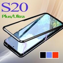 Galaxy s20 plus caso s20 ultra capa de telefone s 20 20s para samsung galaxy s20ultra s20plus gs20 pele protetora magnética flip fundas