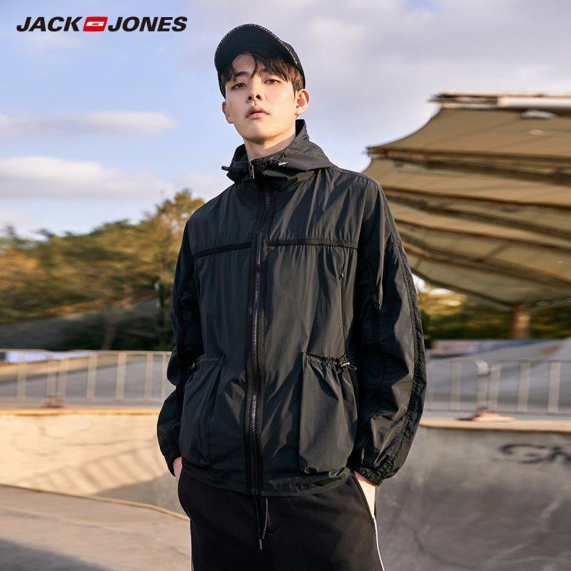 JackJones Men's Jacket Fashion Thin Hooded Streetwear Male Jacket Menswear Style| 220121536