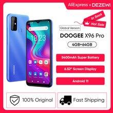 Doogee x96 pro 5400mah grande bateria celulares 4gb ram 64gb rom octa núcleo 13mp quad câmera smartphones telefone móvel android 11