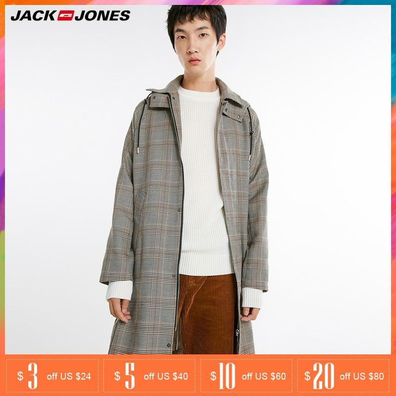 Jack Jones Autumn Mens Removable Hooded Medium Trench Jacket Coat| 218321571