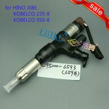 ERIKC 095000-6590 การใช้ฉีด assy 6590 (23670-E0010) อัตโนมัติเครื่องยนต์ดีเซล common rail injector 9709500-659 HINO J08E