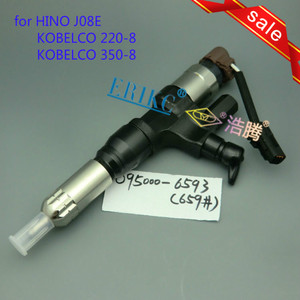 ERIKC 095000 6590 fuel injection assy 6590 ( 23670 E0010) auto engine diesel common rail injector 9709500 659 for HINO J08E|Fuel Injector|Automobiles & Motorcycles -