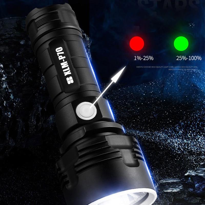 Super Powerful LED Flashlight XLM-L2/P70 Torch USB Rechargeable Waterproof Lamp Ultra Bright Lantern Camping LED Flashlight