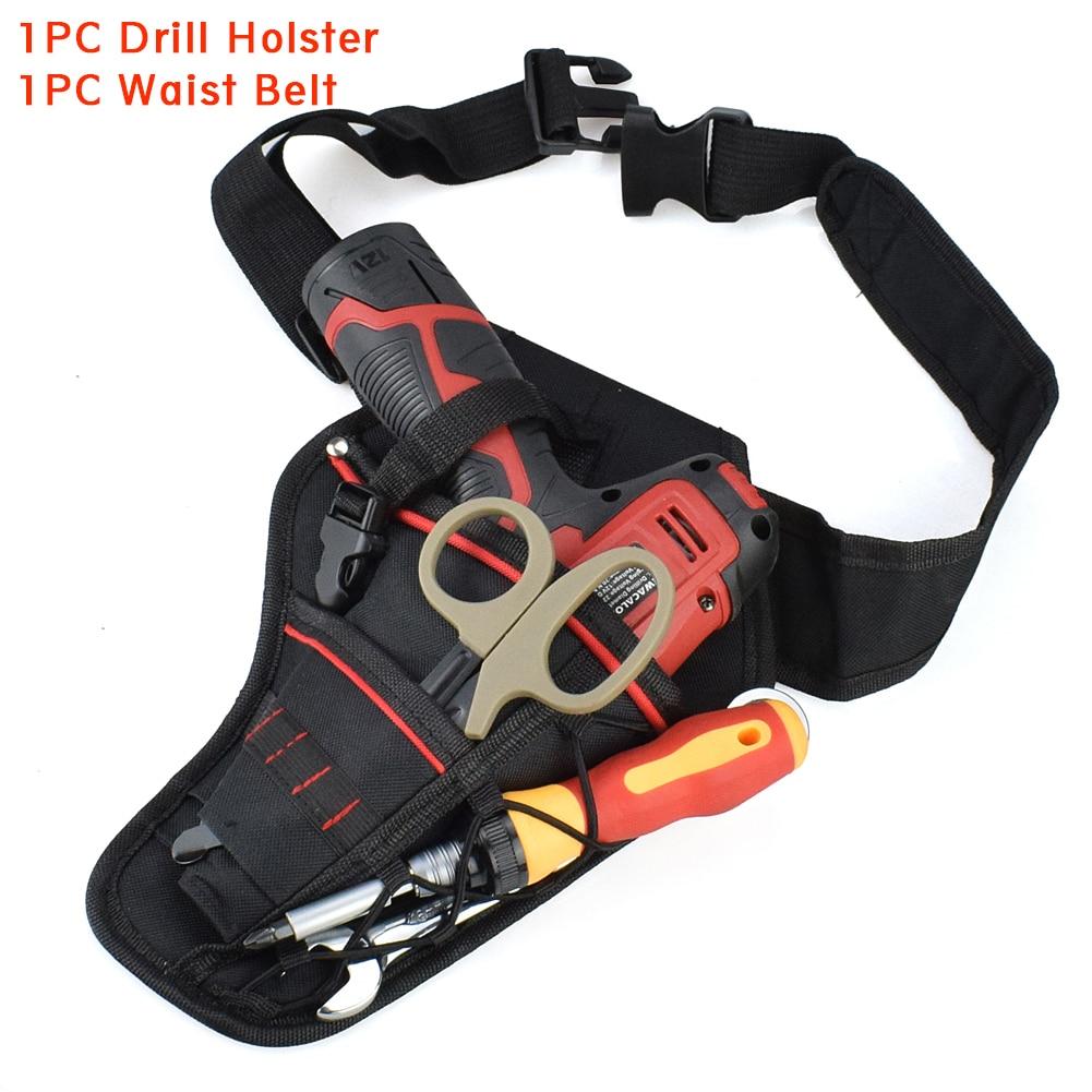 Work Drill Holster Bag Wrench Screwdriver Electric Tool Waist Belt Universal Accessories Hard Waterproof Impact Wearproof Pouch
