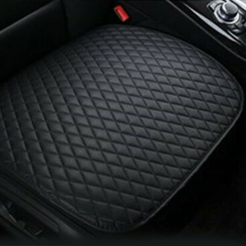 Universal Interior Backless Seat Cover Cushion Faux Leather Comfy Pad Anti-Skid
