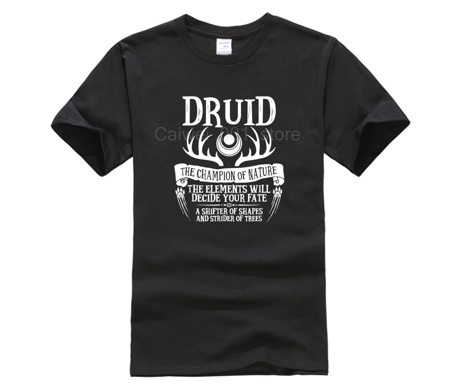 Top Men's Cotton T shirt brand men shirt The Druid Fantasy RPG DnD Design Men's Print CasualT Shirt Popular image