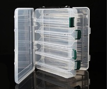 Two-sided Fishing Box Multifunctional Plastic Fishing Lure Bait Hooks  Sequin storage box multi-Compartments Transparent Visible 2 layer multifunctional removable lure bait box fishing bait hook fishing fittings storage box with interlayer receiving box