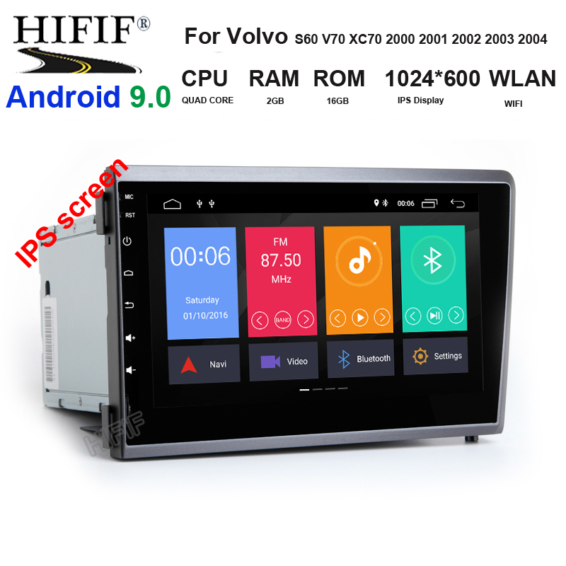 4G RAM Android 9.0 IPS SCREEN 2 DIN CAR GSP RADIO for <font><b>Volvo</b></font> S60 V70 <font><b>XC70</b></font> 2000 <font><b>2001</b></font> 2002 2003 2004 multimedia PLAYER Navigation image