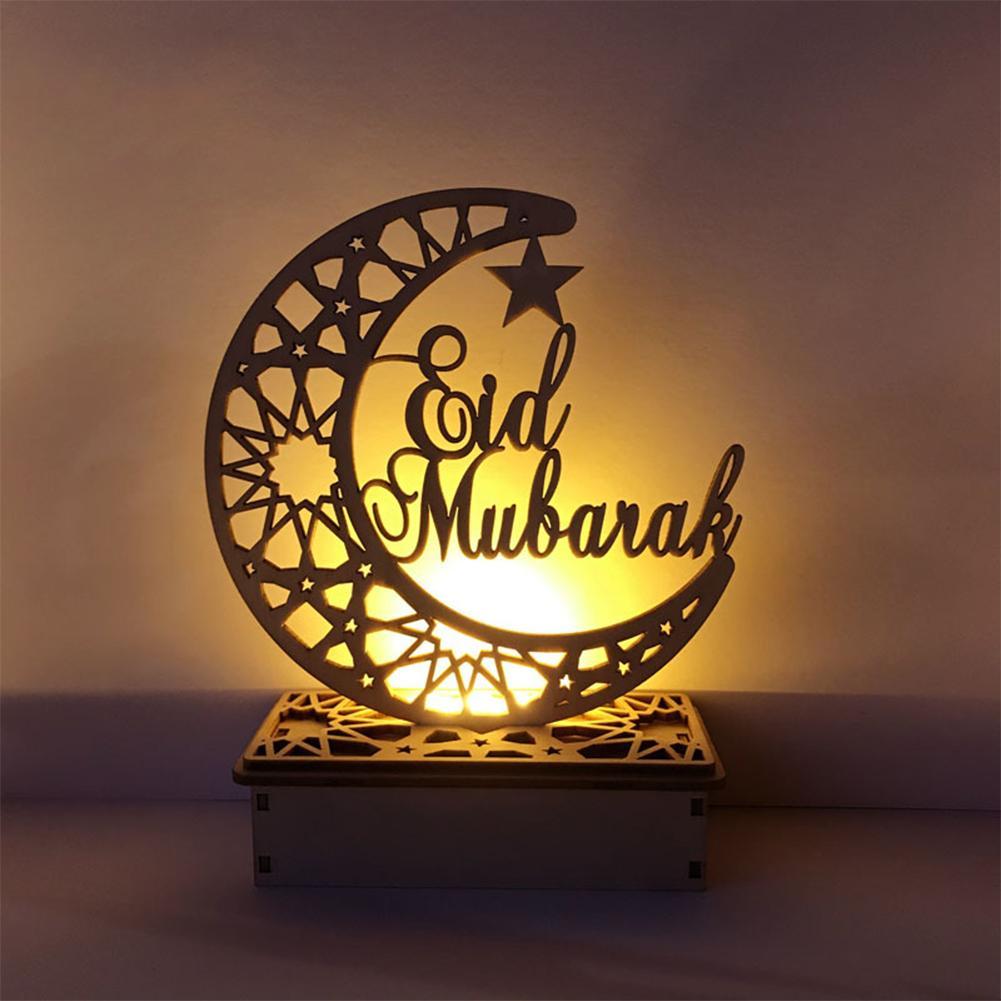 LED Wooden DIY Light Festival Palace Decorative Lights Holiday Lights For Muslim Islamic Eid Mubarak Ramadan Festival Decoration
