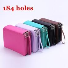 купить Pencil Case 184 Holes PU Leather Large Capacity Art School Supplies Waterproof Pen Bag Box 4 Layer Multi-functional For Student по цене 1193.95 рублей