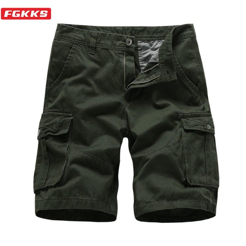 FGKKS Men Shorts High Quality Fashion Brand Shorts Wild Men's Original Casual Breathable Classic Cargo Shorts Male