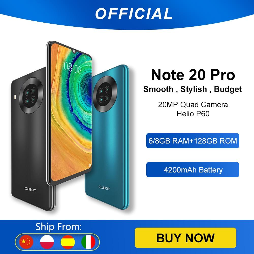 Cubot Note 20 Pro Quad Camera Smartphone NFC 6GB+128GB 6.5 Inch 4200mAh Android 10 Dual SIM Telephone 4G LTE celular Note20 Pro Cellphones  - AliExpress