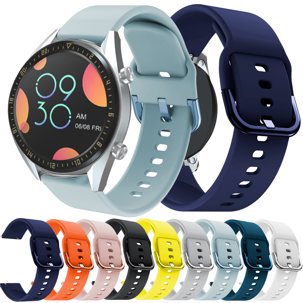 Hero Iand Sport Silicone 22mm Watch Strap Band For Huawei Watch GT GT2 42mm 46mm Sport Smart Wristbands For Samsung Gear S3 Belt