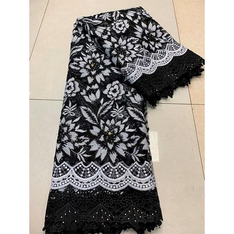 Sequines africano senhora laço francês vestido material