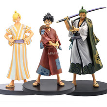 18 Cm One Piece De Grandline Mannen Luffy Roronoa Zoro Vinsmoke Sanji Trafalgar Law Land Van Wano Land Ver. Action Figure Speelgoed