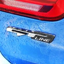 Carro tuning etiqueta gt linha letras decalques acessórios para renault kadjar megane arkana sandero koleos fluência latitude