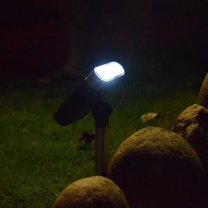 Image 5 - Nuovo regolabile solare lampada di proiezione della luce solare del prato giardino esterno impermeabile della luce di paesaggio in terra luce di emergenza