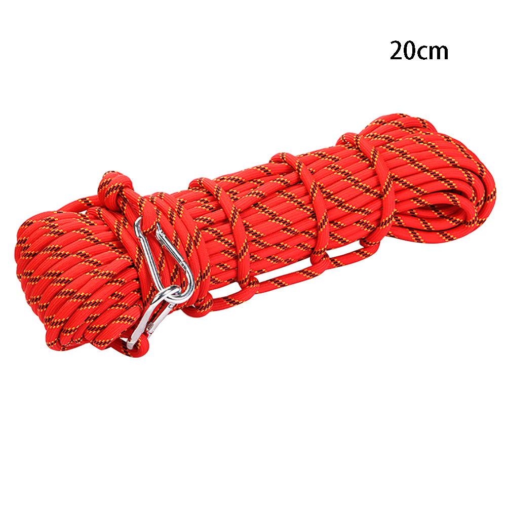 High Strength String Wear Resistant Outdoor Sports Climbing Rope Rock Safety Rescue Gymnastic Equipment Rappelling With Hook