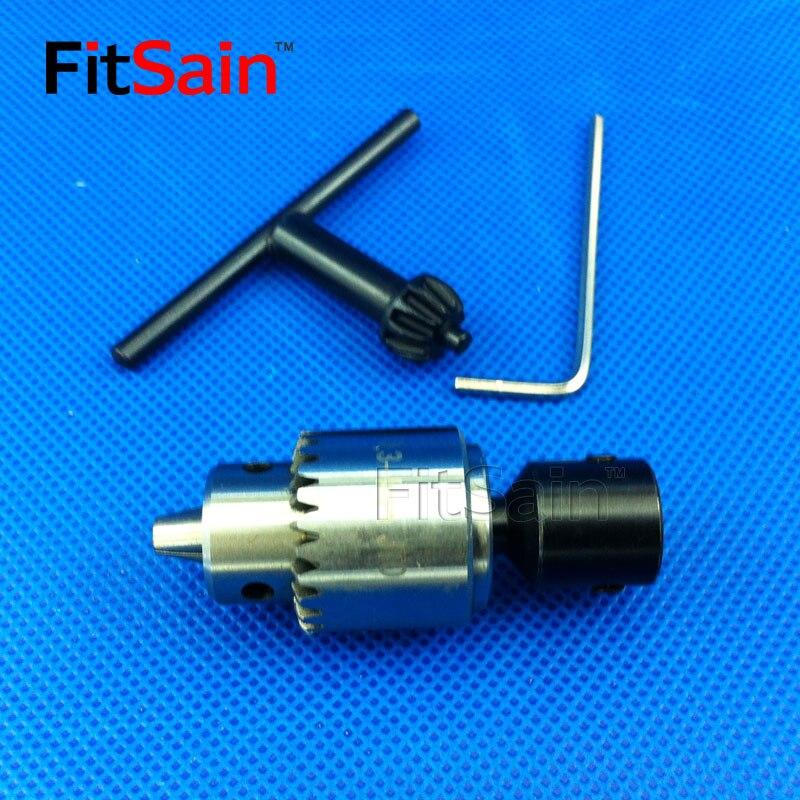 FitSain--JT0 0.3-4mm mini drill chuck for motor shaft 4mm/5mm/6mm/8mm Connect Rod Power Tools Accessories drill press