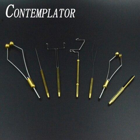 essencial 7 pcs por excelencia mosca amarrando ferramenta combinacao bodkin rosqueador de bobina suporte de