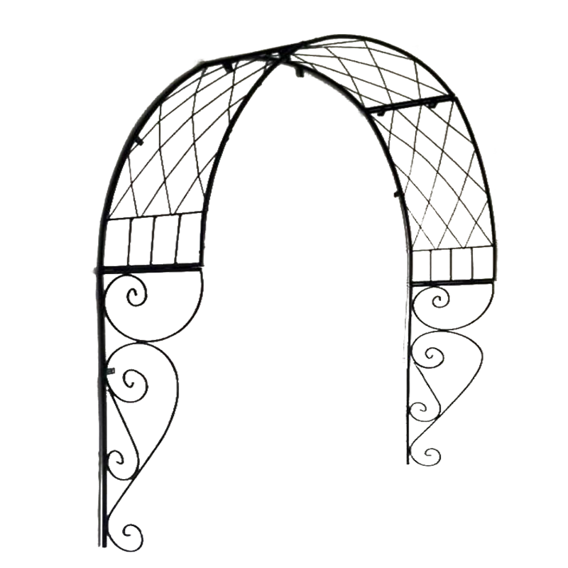 Outdoor Arch Flower Rack European Arched Gardening Plant Climbing Frame Grid Garden Iron