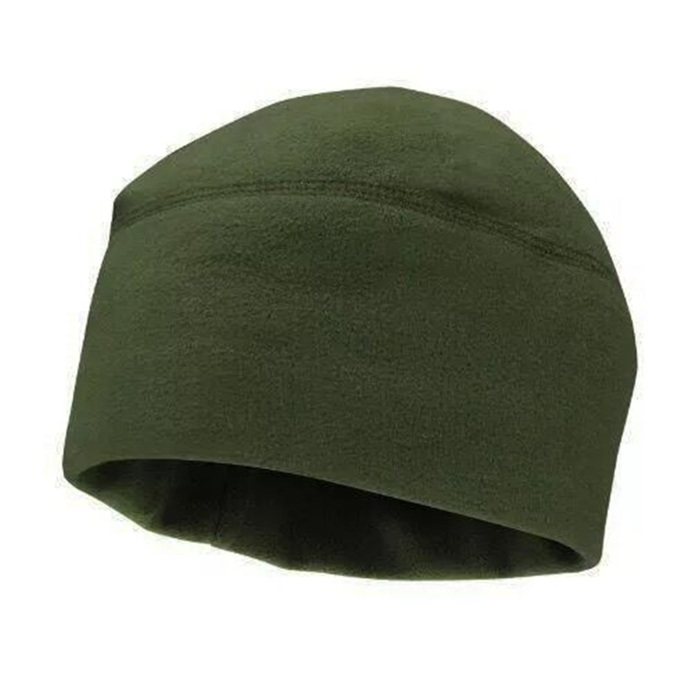 Unisex Winter Soft Warm Solid Color Cap Polar Fleece Thickened Military Army Men Women Beanie Hat Windproof Outdoor Use