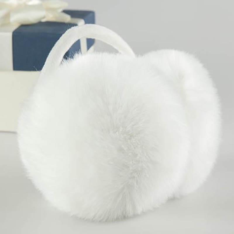Calymel Winter Ear Muffs Fur Warm Ladies Earmuffs Cute Plush Solid Color Earflap Winter Accessories For Women