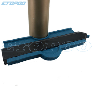 "Image 4 - 250mm 10 ""/120mm 5"" profil kopya kontur ölçer 10 ""kendinden kilitli genişletmek teksir standart ahşap markalama döşeme laminat fayans Tools"