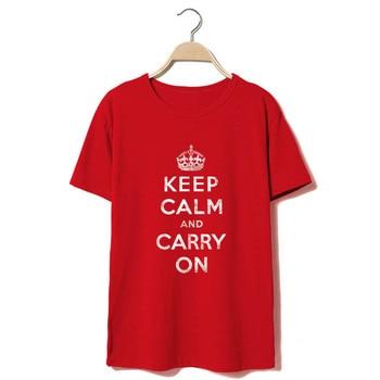 Nieuwe Collectie Vintage Wit Houd Kalm En Dragen Op Tekst W Crown T-shirt 2020 Man Leuke Mannen T-shirts Voorzien nieuwigheid Hip Hop