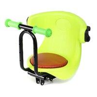 Cadeira de criança Assento Da Bicicleta Crianças Bicicleta Elétrica Frente Portador de Bebê Almofada Sela Esporte Pedal de Segurança Estável Com Apoio de Braço Para O Presente|Selim da bicicleta| |  -