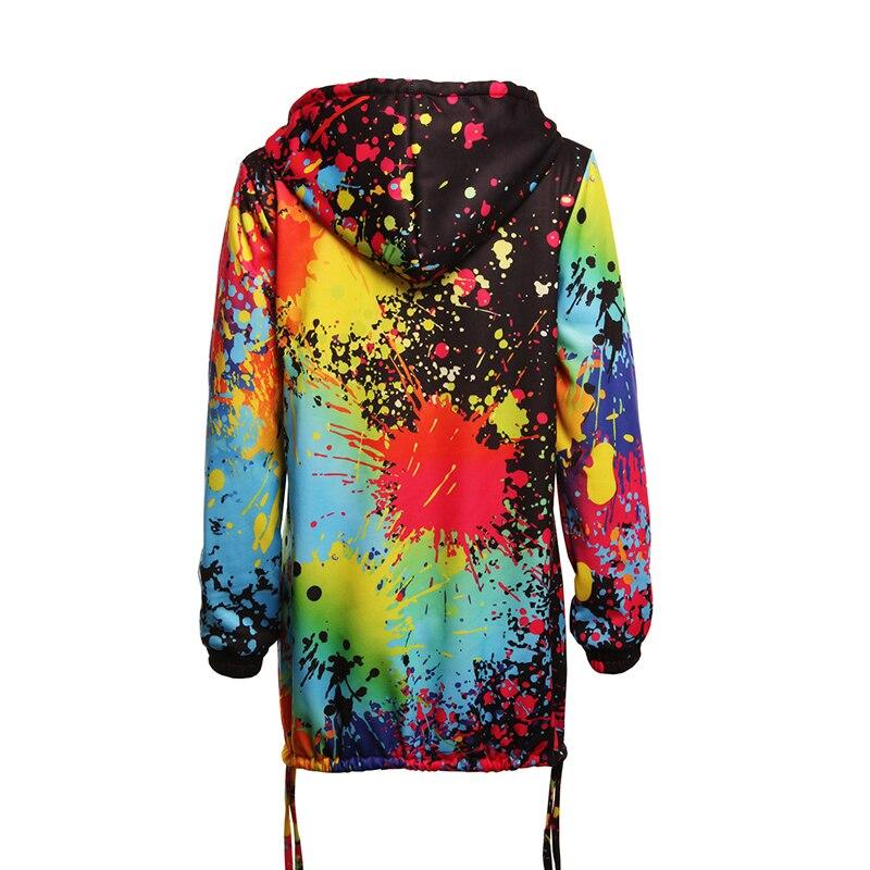 Hcd09f66949614745b5de9e2b9f024b65S Bomber Jacket Coat Women Colourful Tie Dyeing Print Pocket Zipper Hooded Sweatshirt Outwear Casual Windbreaker Slim Overcoat