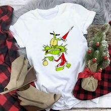 Летняя модная женская футболка с графическим рисунком милая