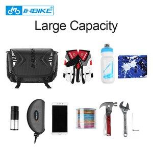 Image 3 - INBIKE Wasserdichte Fahrrad Tasche Große Kapazität Lenker Vorne Rohr Tasche Fahrrad Tasche Schulter Rucksack Radfahren Bike Zubehör