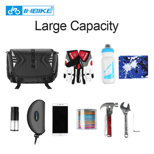 Image 3 - INBIKE Водонепроницаемая велосипедная сумка, вместительная Передняя сумка на руль, велосипедный Карманный Рюкзак на плечо, велосипедные аксессуары