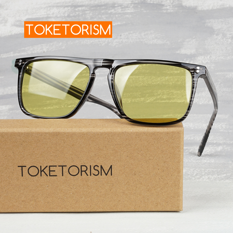 Toketorism Day And Night Vision Glasses Photochromic Sunglasses Polarized Yellow Glasses For Driving
