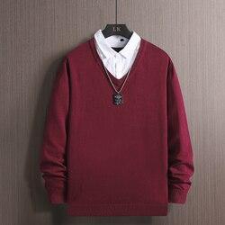 Pull hommes solide Gengar Hip Hop Streetwear hommes vêtements Spandex pull faux deux pièces hommes chandails mode veste décontractée