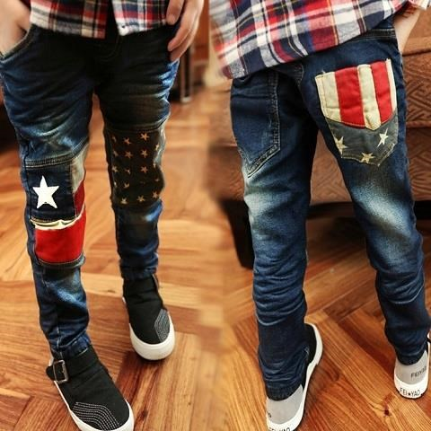 Young STUDENT'S Pants Spring 2018 Children's Jeans Spring And Autumn CHILDREN'S Long Trousers 8-Year-Old 9 BOY'S 10 Boy 12 Pants