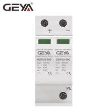 все цены на GEYA 2P DC SPD 600V 40KA Surge Protection Device 50/60Hz SPD DC 500V Overvoltage Protector онлайн