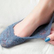 Calcetines tobilleros de silicona para mujer, calcetín antideslizante, de corte bajo, para barco, 2020