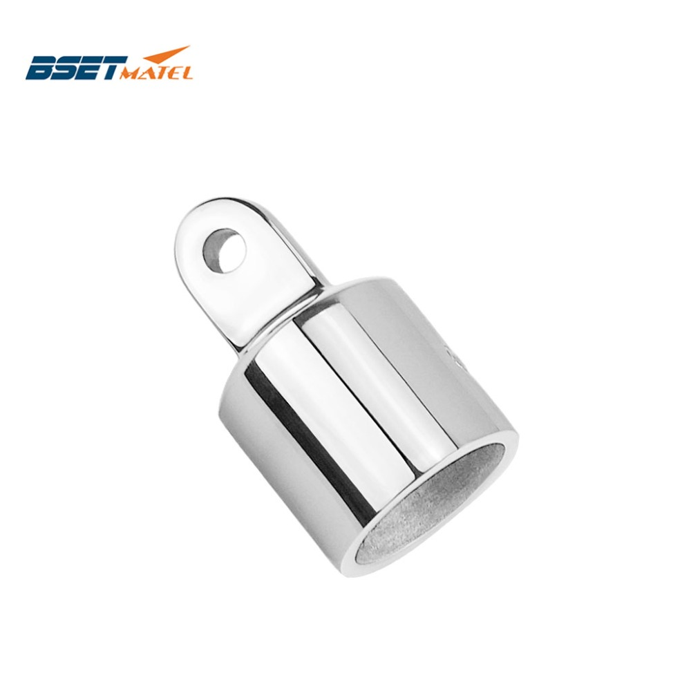 Stainless Steel 316 Pipe Eye End Cap Bimini Top Fitting Hardware Marine Boat Yacht External Eye End Canopy Tube End