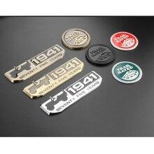 3D Metallo 1941 TRAIL RATED 4X4 Dellemblema del Distintivo Della Decalcomania Adesivi Per Auto Per Jeep Wrangler Cherokee Renegade Bussola Car Sticker Styling
